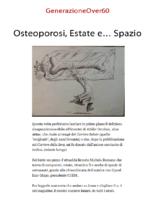 Osteoporosi, Estate e… Spazio