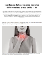 Incidenza del carcinoma tiroideo differenziato e uso dello I131